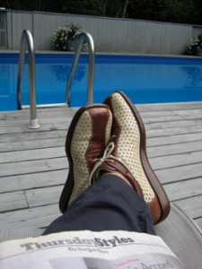 It's all about footwear even if you;re a dork